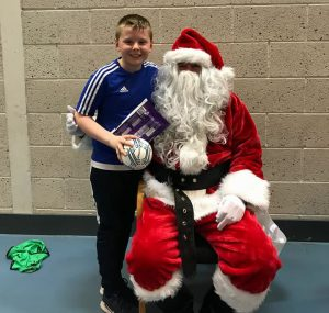 Santa comes to Rossglass FC!